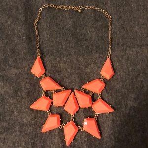 Francesca's Collections Orange Statement Necklace